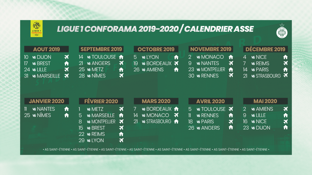 Calendrier Saison 2020.Calendrier Saison 2019 2020 Asse Business
